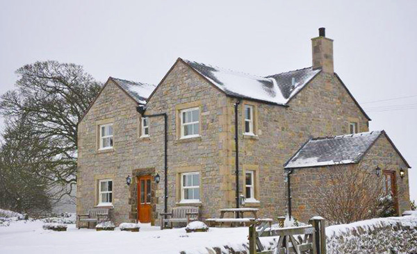 Endmoor House in the Snow