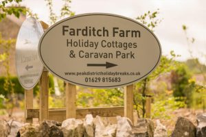 farditch farm holiday cottages and caravan sign